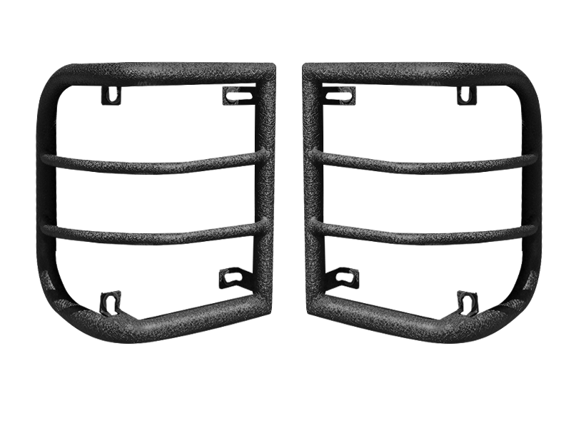 BODY ARMOR 4x4 Wrap Around Tail Light Guards in Black for 07-18 Jeep Wrangler JK & JK Unlimited
