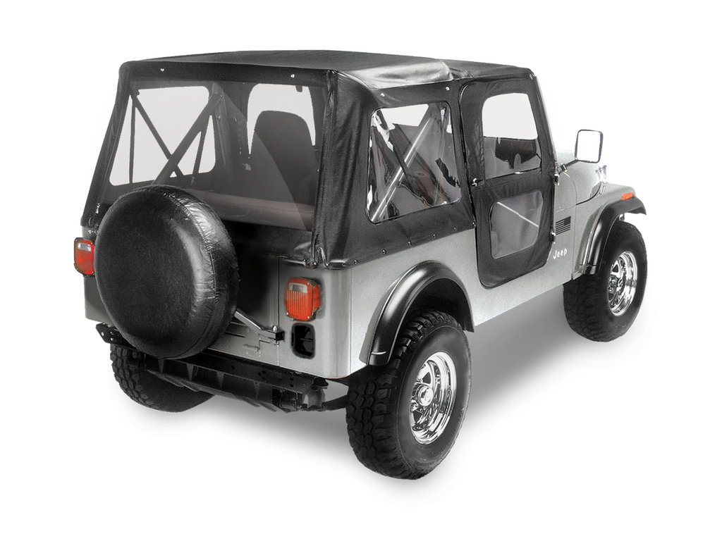 BESTOP Factory Replacement Soft Top Skin for 76-86 Jeep CJ7