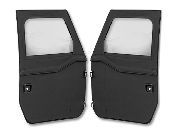 BESTOP  2-Piece Canvas Doors for 07-18 Jeep Wrangler JK & JK Unlimited