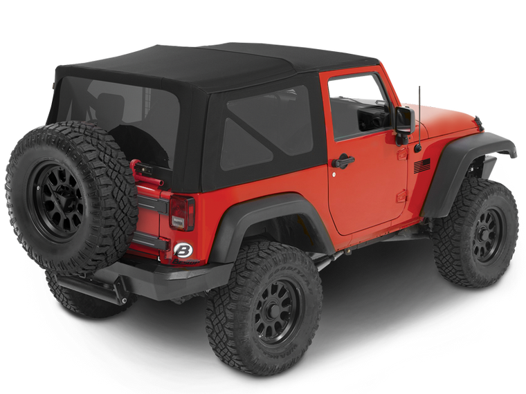 BESTOP Replace-A-Top with Tinted Windows without Doors for 07-18 Jeep Wrangler JK & JK Unlimited