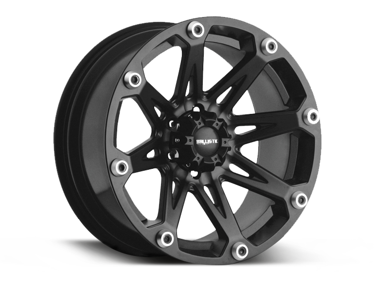 "BALLISTIC 814 ""Jester"" Wheel in Satin Black for 07-18 Jeep Wrangler JK & 18up Jeep Wrangler JL"