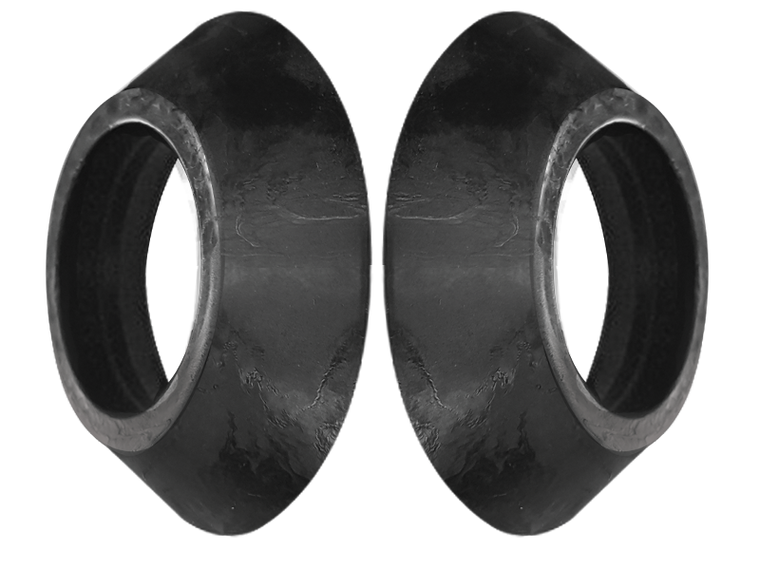 CROWN D-Ring Washers in Black (Pair)