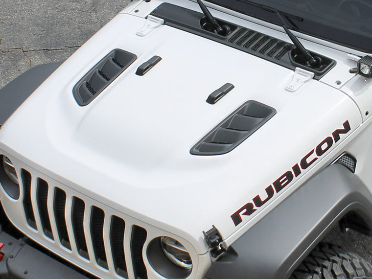DV8 Rubicon Hood for 18-up Jeep Wrangler JL & JL Unlimited and 20-up Jeep Gladiator JT