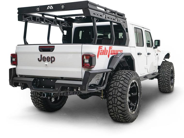 FAB FOURS Bed Racks for 20-up Jeep Gladiator JT