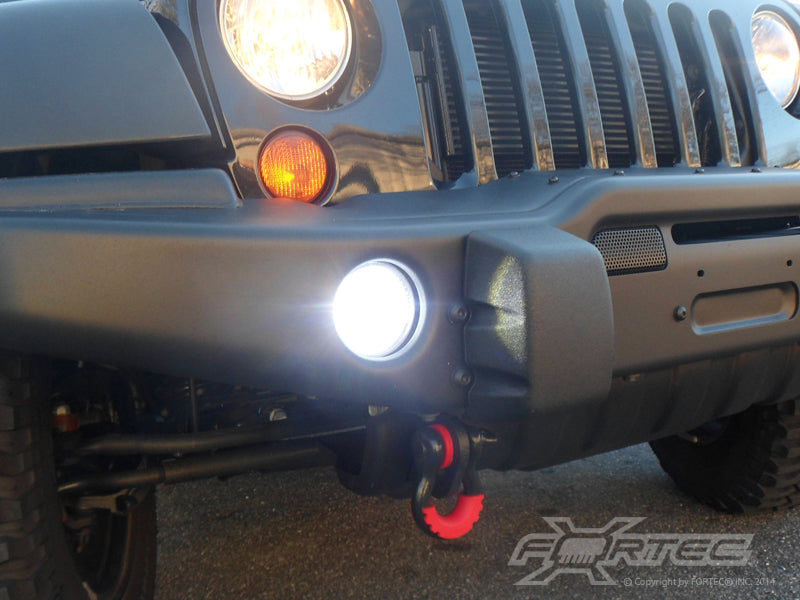 FORTEC High Powered LED Fog Lights for 07-18 Jeep Wrangler JK & JK Unlimited