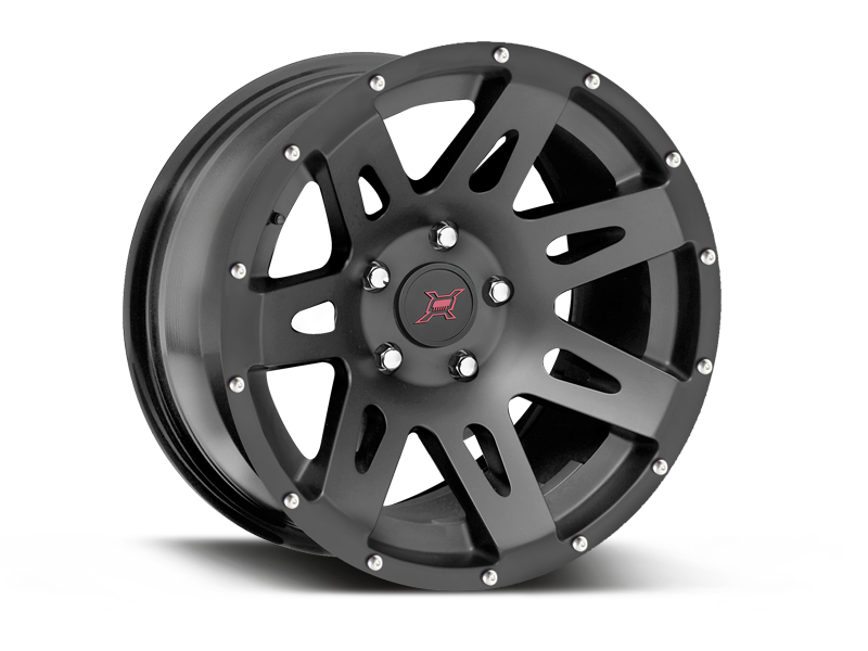 FORTEC Hub Centric F1 Wheel in Satin Black for 07-18 Jeep Wrangler JK & JK Unlimited