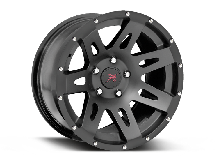 FORTEC Hub Centric F1 Wheel in Satin Black for 18-up Jeep Wrangler JL & JL Unlimited