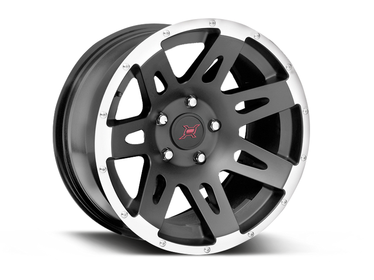 FORTEC Hub Centric F1 Wheel in Satin Black - Machined Lip for 07-18 Jeep Wrangler JK & JK Unlimited