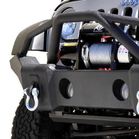 DV8 Front Bumper Marathon, Textured Black for 07-18 Jeep Wrangler JK & 18-up Jeep Wrangler JL