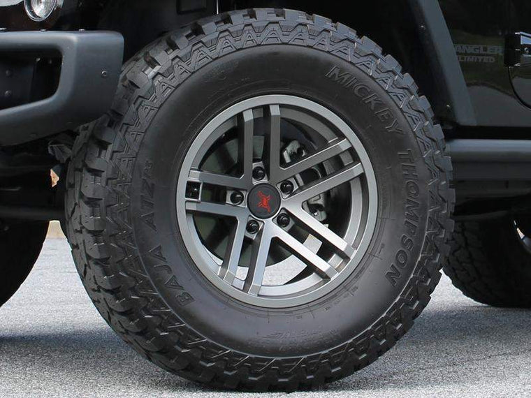 "FORTEC Hub Centric F2 ""Jesse Spade"" Wheel in Gun Metal for 07-up Jeep Wrangler JK & JL and Gladiator JT"