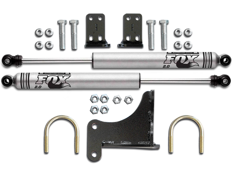 FORTEC Exclusive FOX Dual Stabilizer Kit for 07-18 Jeep Wrangler JK & JK Unlimited