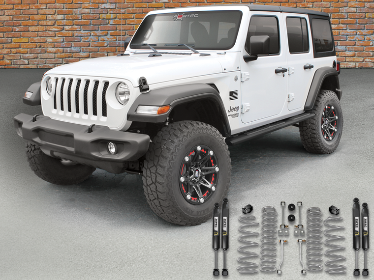 "FORTEC 2.5"" Suspension Kit by Rubicon Express with JKS Shocks 4-Door Only for 18-up Jeep Wrangler JL Unlimited"