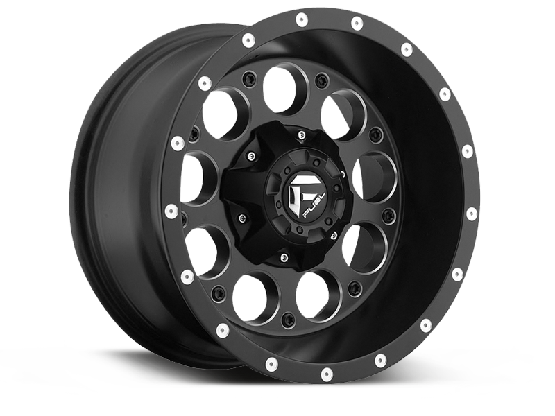 "FUEL D525 ""REVOLVER"" Wheel in Satin Black for 87-06 Jeep Wrangler YJ, TL & LJ"