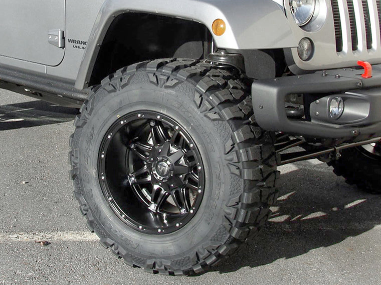 "FUEL D531 ""Hostage"" Wheel in Satin Black for 07-up Jeep Wrangler JK, JL & JT Gladiator"