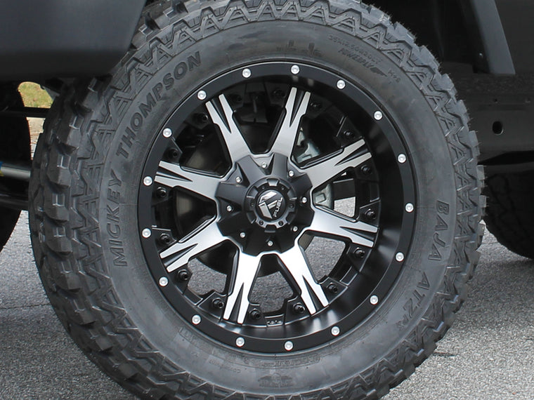 "FUEL D541 ""NUTZ"" Wheel in Satin Black with Machined Spokes for 07-18 Jeep Wrangler JK & 18-up Jeep Wrangler JL"
