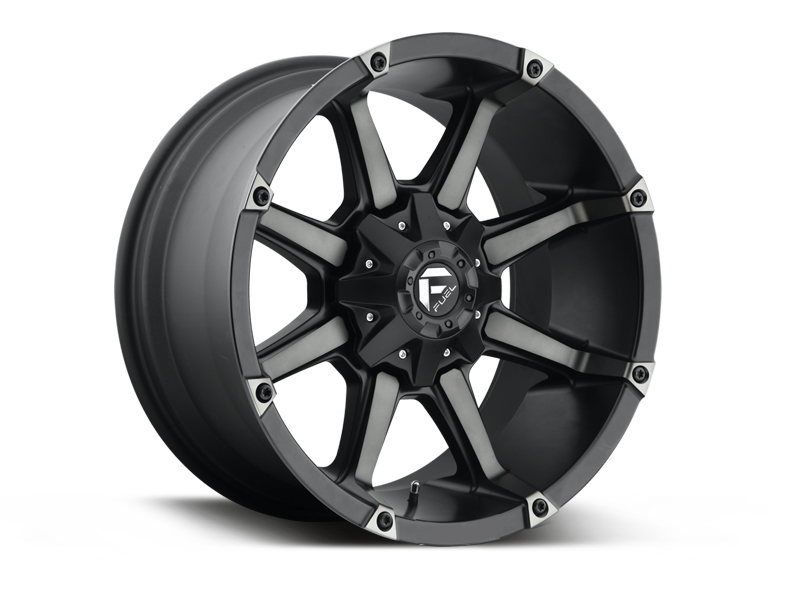 "FUEL D556 ""COUPLER"" Wheel in Satin Black with Dark Tint for 07-up Jeep Wrangler JK, JL & JT Gladiator"