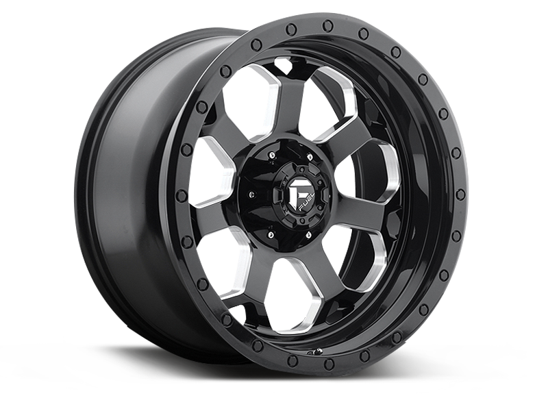 "FUEL D563 ""SAVAGE"" Wheel in Satin Black with Milled Spokes for 07-18 Jeep Wrangler JK & 18-up Jeep Wrangler JL"