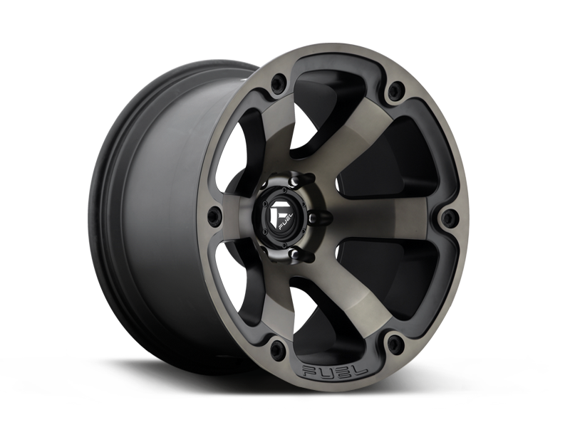 "FUEL D564 ""BEAST"" Wheel in Satin Black with Dark Tint for 07-up Jeep Wrangler JK, JL & JT Gladiator"