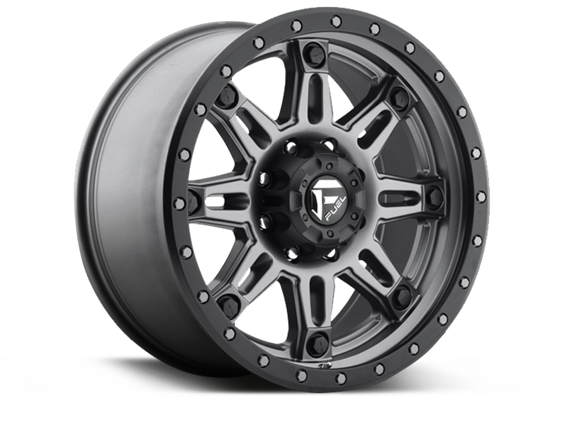 "FUEL D568 ""HOSTAGE III"" Wheel in Satin Anthracite with Satin Black Ring for 07-up Jeep Wrangler JK, JL & JT Gladiator"