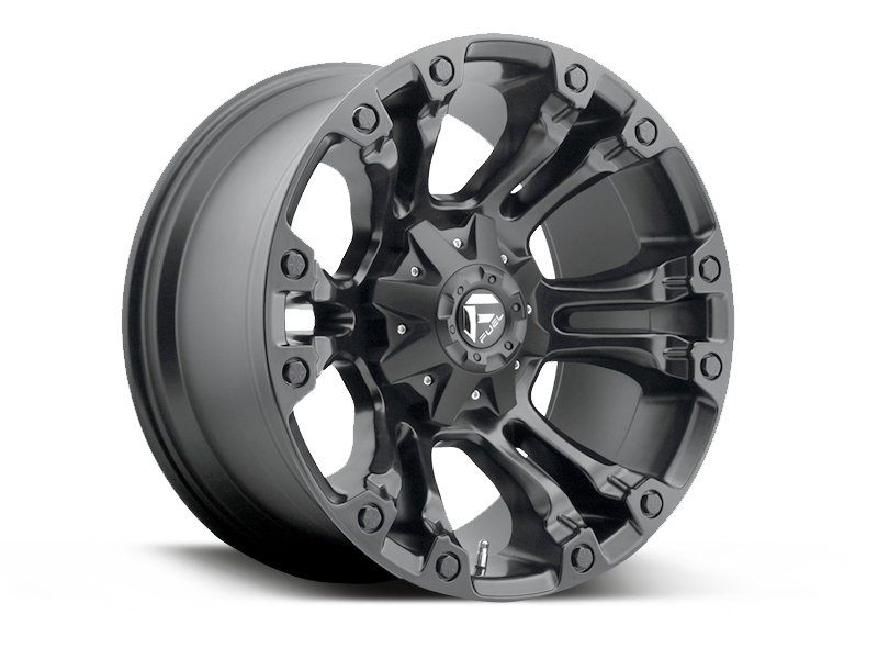 "FUEL D560 ""VAPOR"" Wheel in Satin Black for 07-up Jeep Wrangler JK, JL & JT Gladiator"