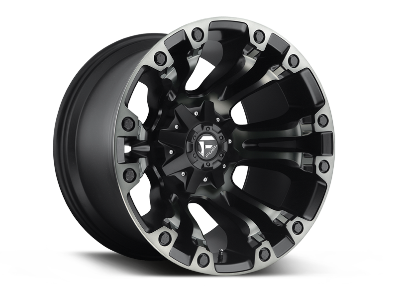 "FUEL D569 ""VAPOR"" Wheel in Satin Black w/ Dark Tint for 07-up Jeep Wrangler JK, JL & JT Gladiator"