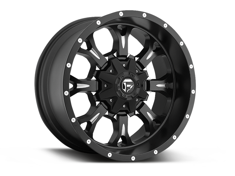 "FUEL D574 ""CLEAVER"" Wheel in Satin Black with Milled Spokes for 07-up Jeep Wrangler JK, JL & JT Gladiator"