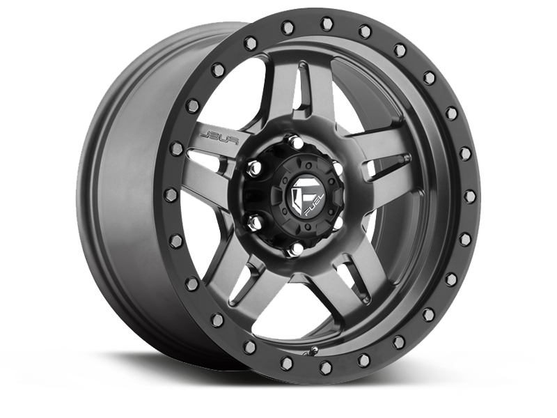 "FUEL D558 ""ANZA"" Wheel in Gunmetal Gray for 95-06 Jeep Wrangler YJ, TJ & LJ"