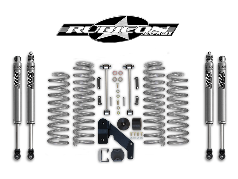 "FORTEC 2.5"" Suspension Kit by Rubicon Express for 07-18 Jeep Wrangler JK & JK Unlimited"