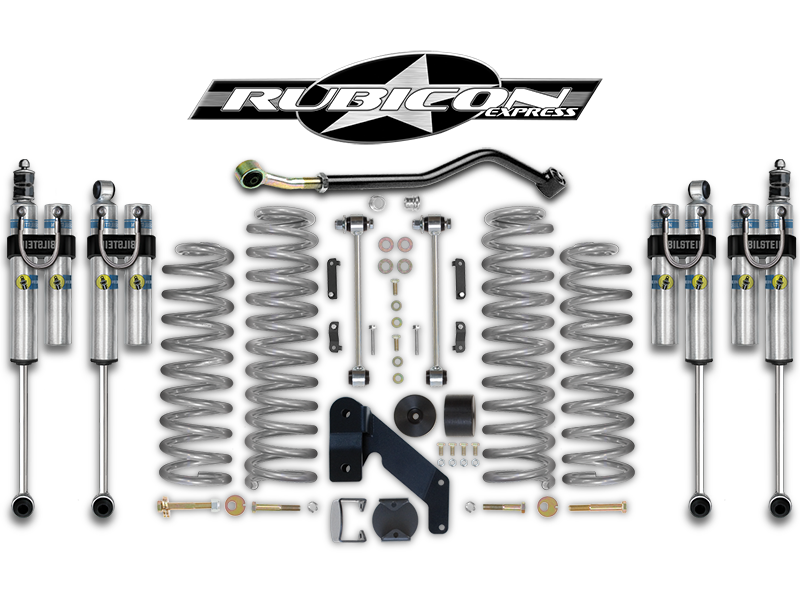 "FORTEC 3.5"" Suspension Kit by Rubicon Express with JKS Adjustable Track Bar for 07-18 Jeep Wrangler JK & JK Unlimited"