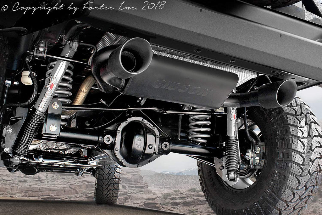 Fortec Dual Exhaust System By Gibson For 07 18 Jeep Wrangler Jk Jk U Fortec4x4