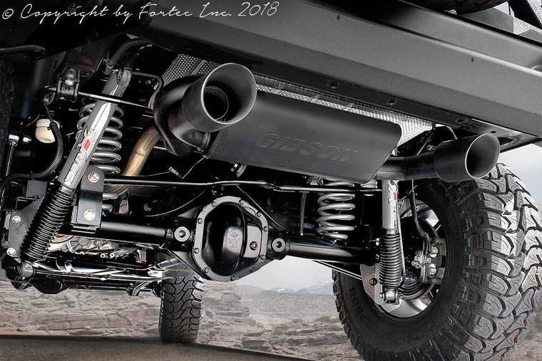 FORTEC Dual Exhaust System by Gibson for 07-18 Jeep Wrangler JK & JK Unlimited