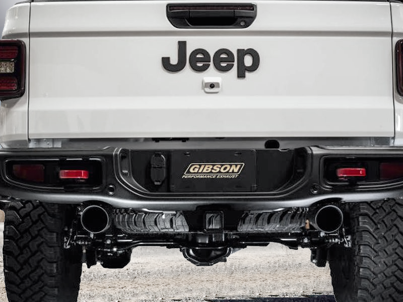 GIBSON Cat-Back Dual Split Exhaust System for 20-up Jeep Gladiator JT