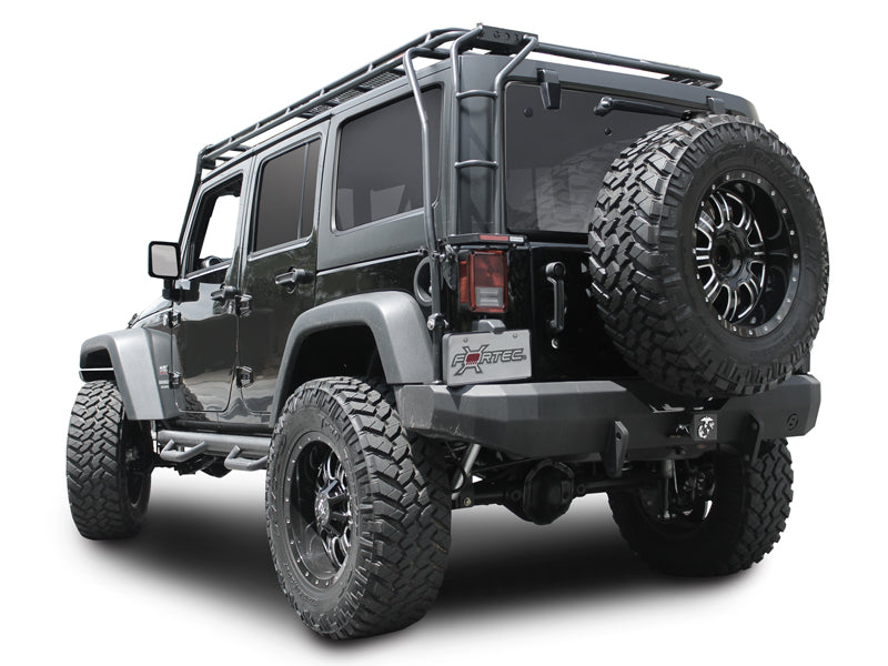 firecracker custom jeep red maximus wrangler rubicon unlimited rack roof ladder
