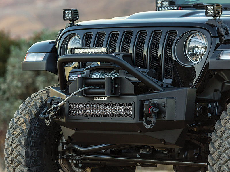 GO RHINO Front Bumper for 18-up Jeep Wrangler JL & JL Unlimited