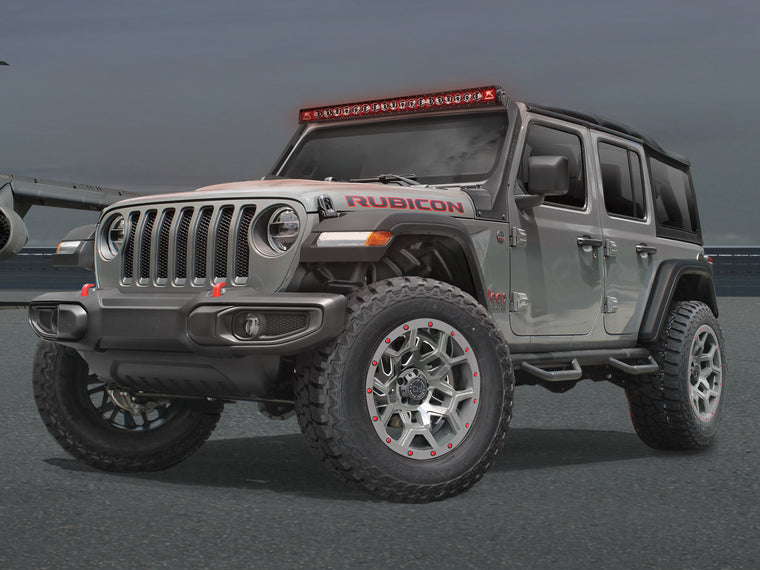 "HAMMERHEAD A-Pillar 50"" Light Bar Mount, Black Powder Coat for 18-up Jeep Wrangler JL & JL Unlimited"