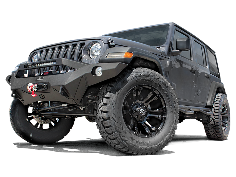 HAMMERHEAD Full Width Front Bumper Ravenger Series, Black Powder Coated  (no Accessories) for 18-up JL & JL Unlimited
