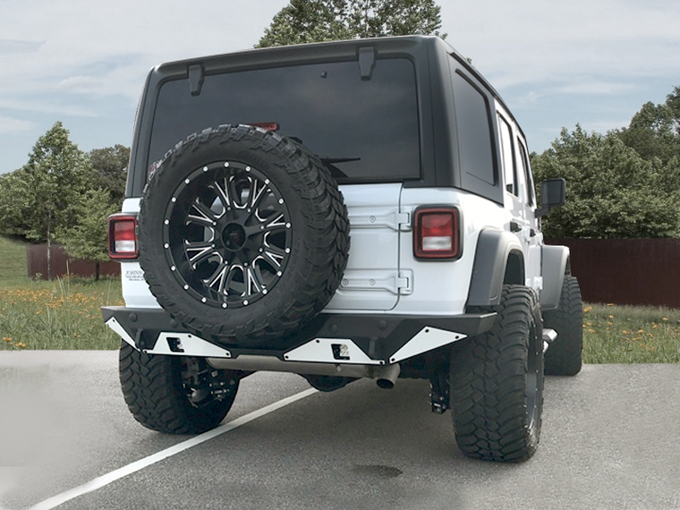 HAMMERHEAD Full Width Rear Bumper Ravenger Series, Black Powder Coated (no Accessories) for 18-up JL & JL Unlimited