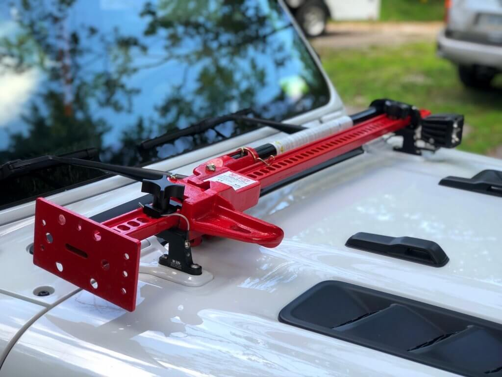 HI-LIFT Jack Hood Mount for Jeep Wrangler