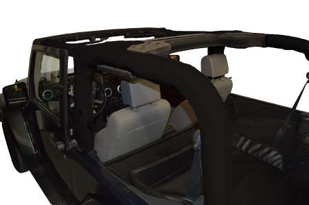DIRTYDOG4x4 Replacement Roll Bar Cover in Black for 07-18 Jeep Wrangler JK & JK Unlimited