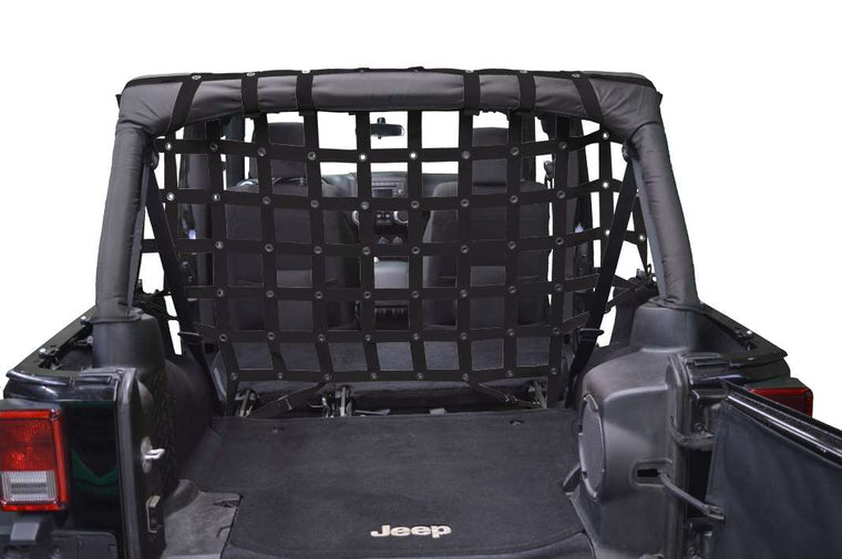 DIRTYDOG4x4 Cargo/Pet Full Divider, Black, 4-Door Only for 07-18 Jeep Wrangler JK Unlimited