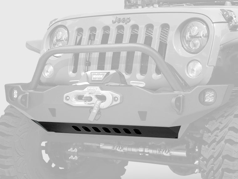 JCR OFFROAD Lower Skid Plate for Vanguard, Crusader, Mauler Front Bumpers, Textured Black for 07-18 Jeep Wrangler JK