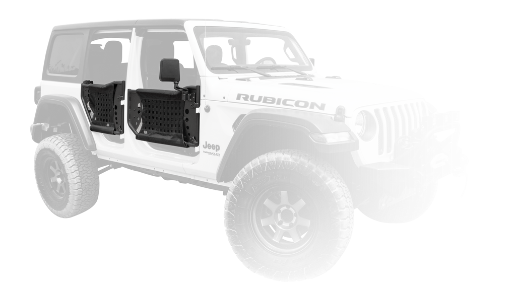 BODY ARMOR Gen III Front Trail Doors for 18-up Jeep Wrangler JL & 20-up Gladiator JT