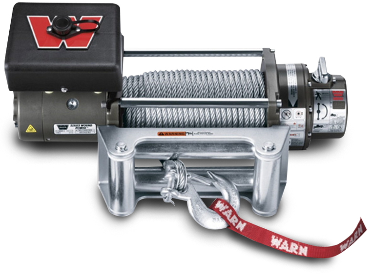 MOPAR M8000 Winch by WARN with Roller Fairlead and 80' Steel Cable