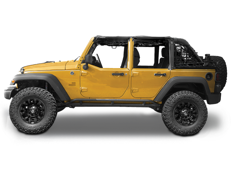 MOPAR Factory Steel Half Doors for 07-18 Jeep Wrangler JK & JK Unlimited