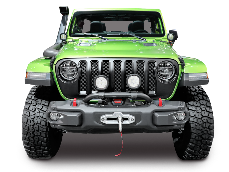 MOPAR Mopar 7 in. Round LED Lights - Pair for 18-up Jeep Wrangler JL & JL Unlimited
