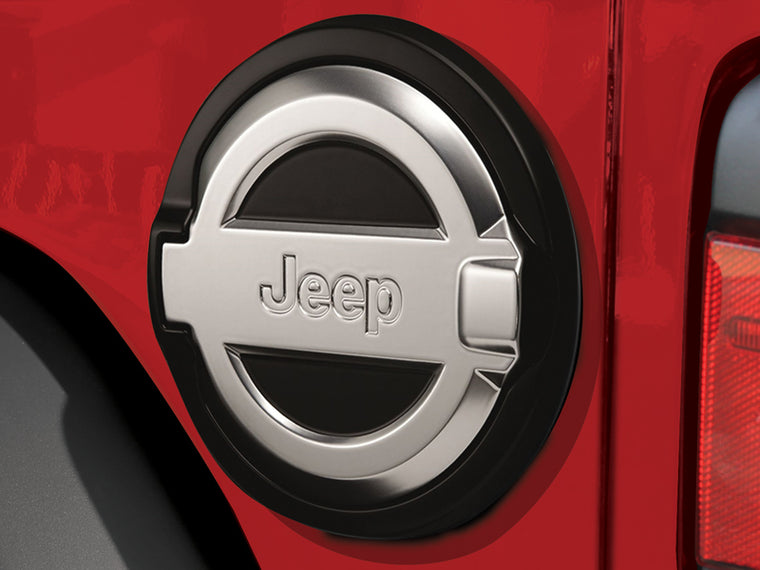 MOPAR Fuel Door Décor Kit Black, Powder-Coated for 18-up Jeep Wrangler JL & JL Unlimited