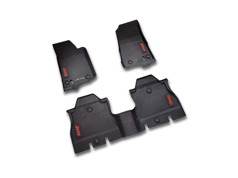 MOPAR Floor Mats for 18-up Jeep Wrangler JL & JL Unlimited