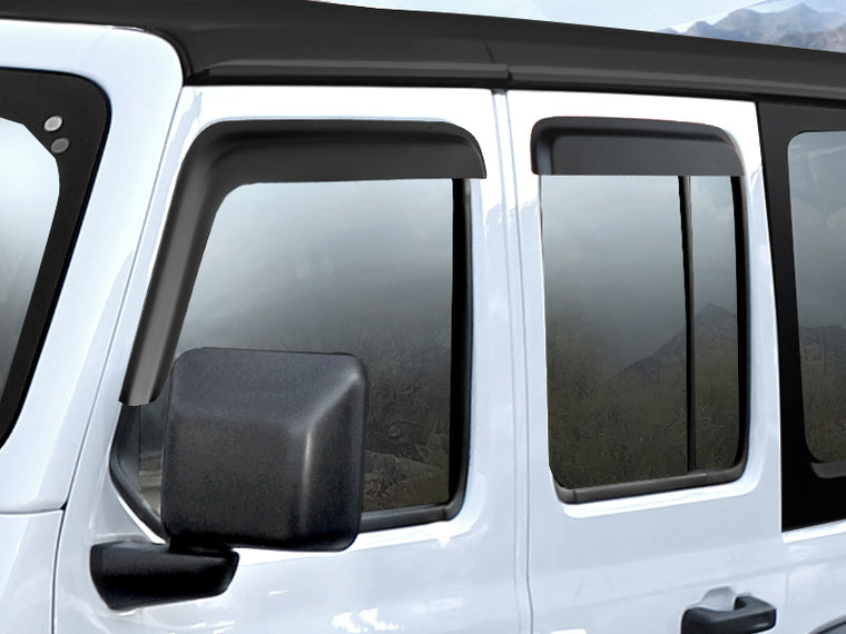 MOPAR Window Vent Visors for 18-up Jeep Wrangler JL & JL Unlimited