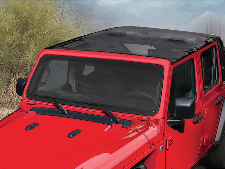 MOPAR Mesh Sun Bonnet Soft Top 4-Door Only for 18-up Jeep Wrangler JL Unlimited