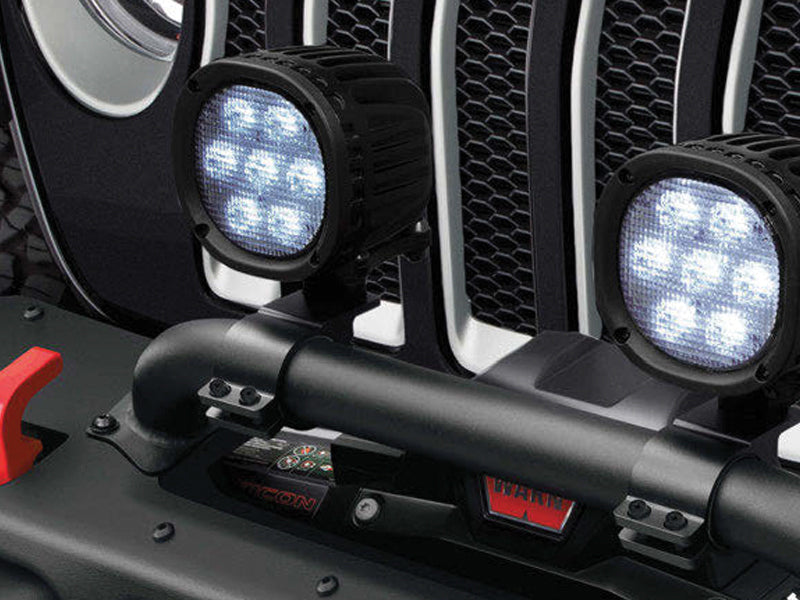 MOPAR Winch Guard Light Brackets for 18-up Jeep Wrangler JL & JL Unlimited